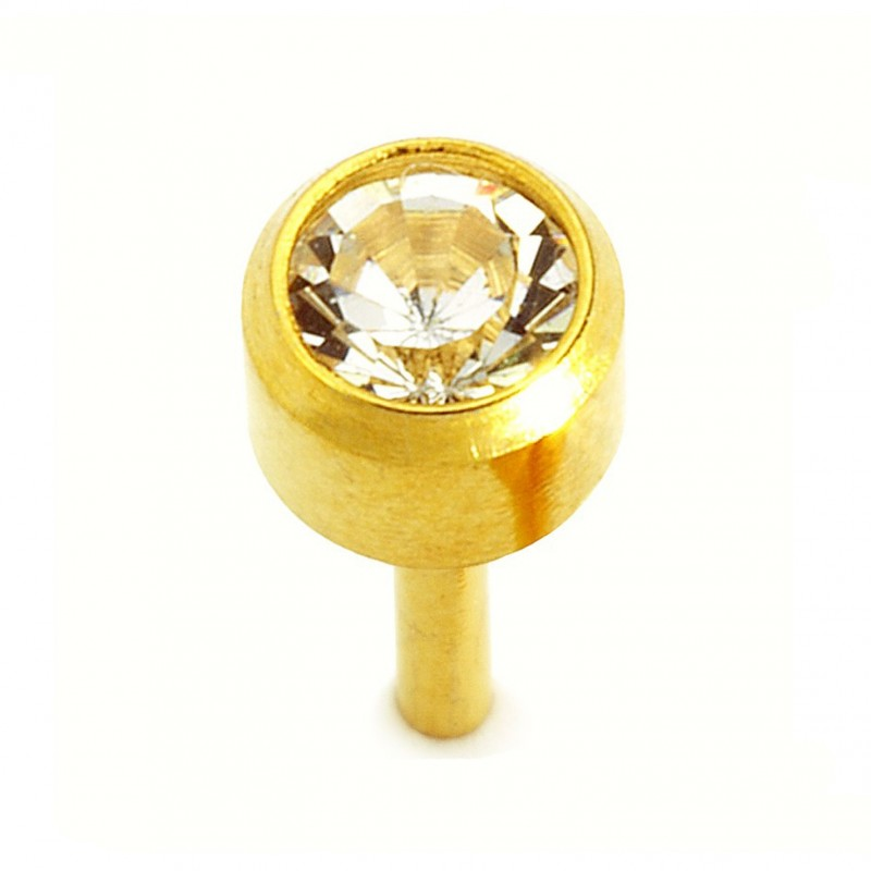 "Caflon® sterile Gold Plated earrings ""Large April"""