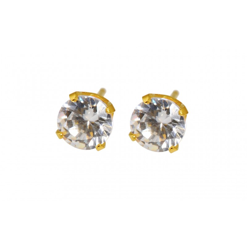 Caflon® sterile Gold Plated  earrings (Cubic Zirconia)