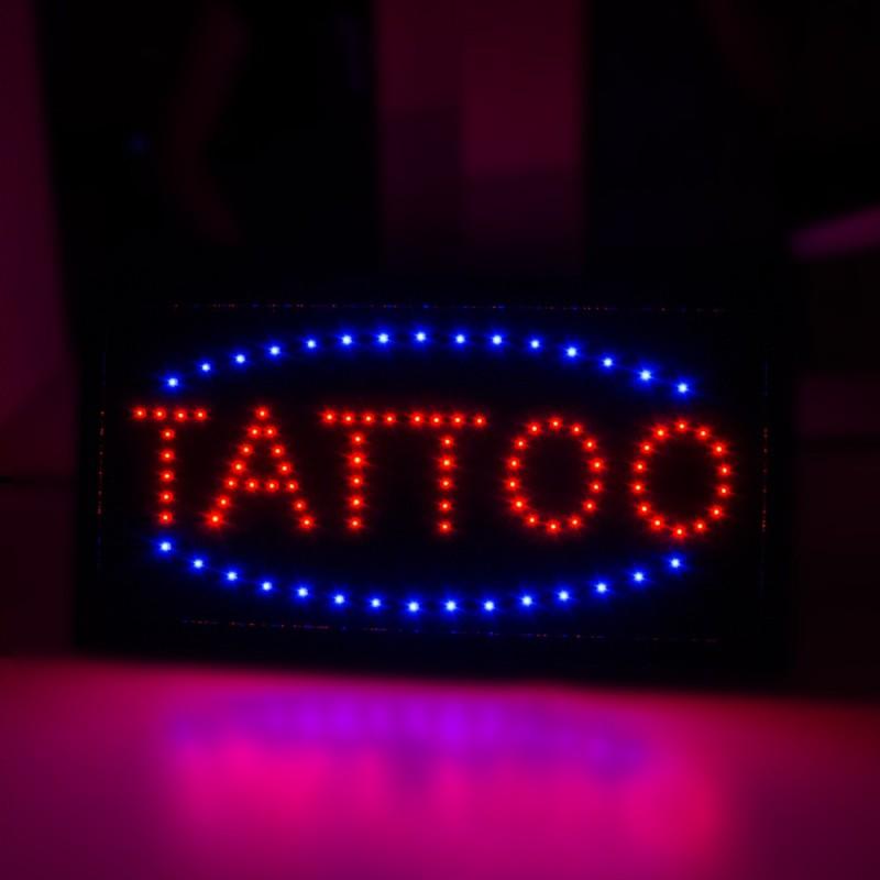 Light tattoo advertising