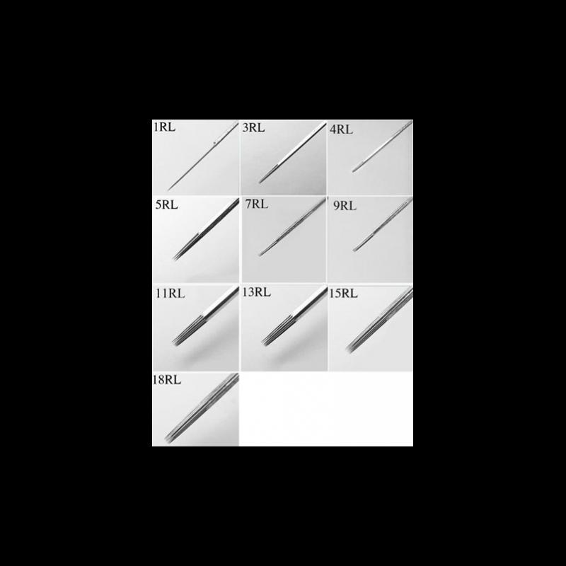 RL Round Liner needle 0.24mm 05/07/09 (especially sharp) (5 pcs.)