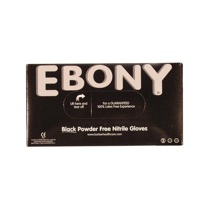 Ebony Nitrile Gloves (L) 100pcs.