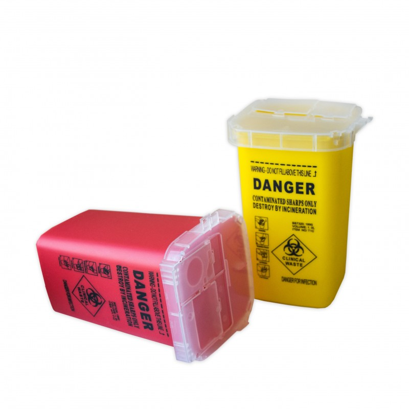Needle container 1l (Red - Yellow)