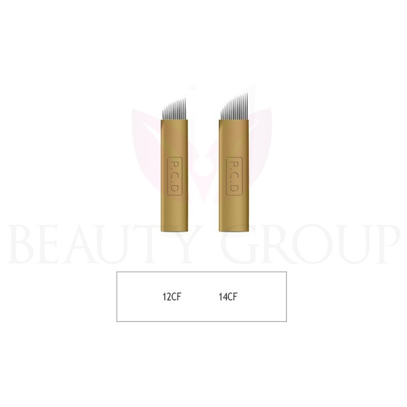 Microblading 12 - 14 CF needle (gold - hard) 1 pcs.