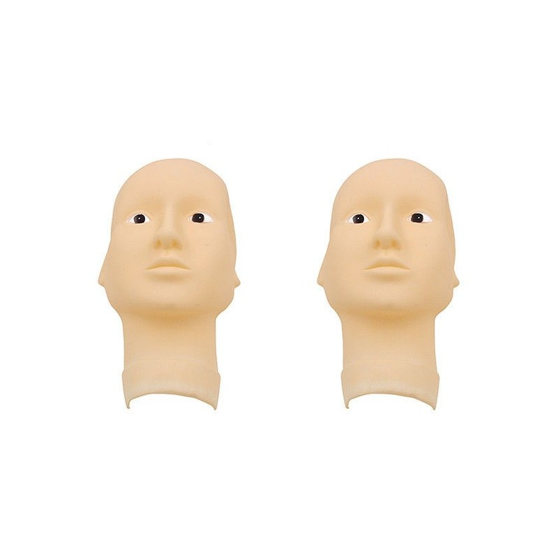 3D Rubber head mask with open eyes