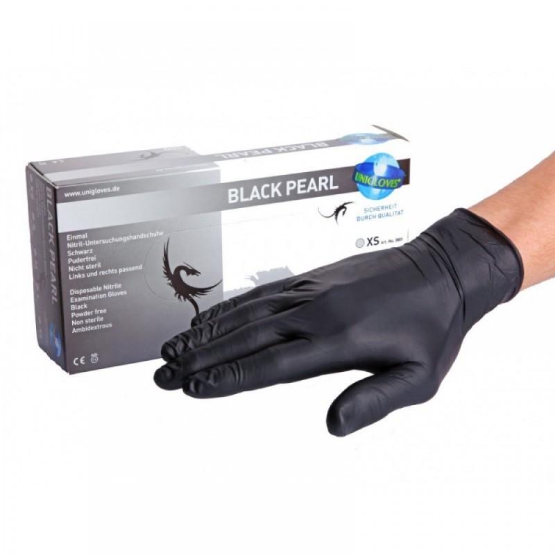 Black Pearl Nitrile Gloves  (XS - M - L)