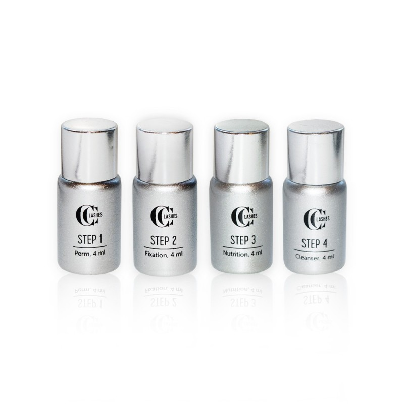 CC Lashes 4 steps system for eyelash lifting