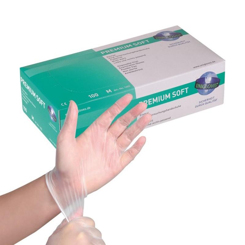 PREMIUM SOFT Vinyl Gloves (S)