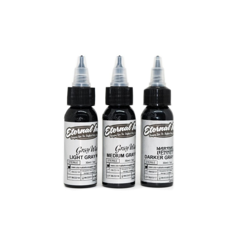 Eternal Ink Gray shades pigments 30ml.