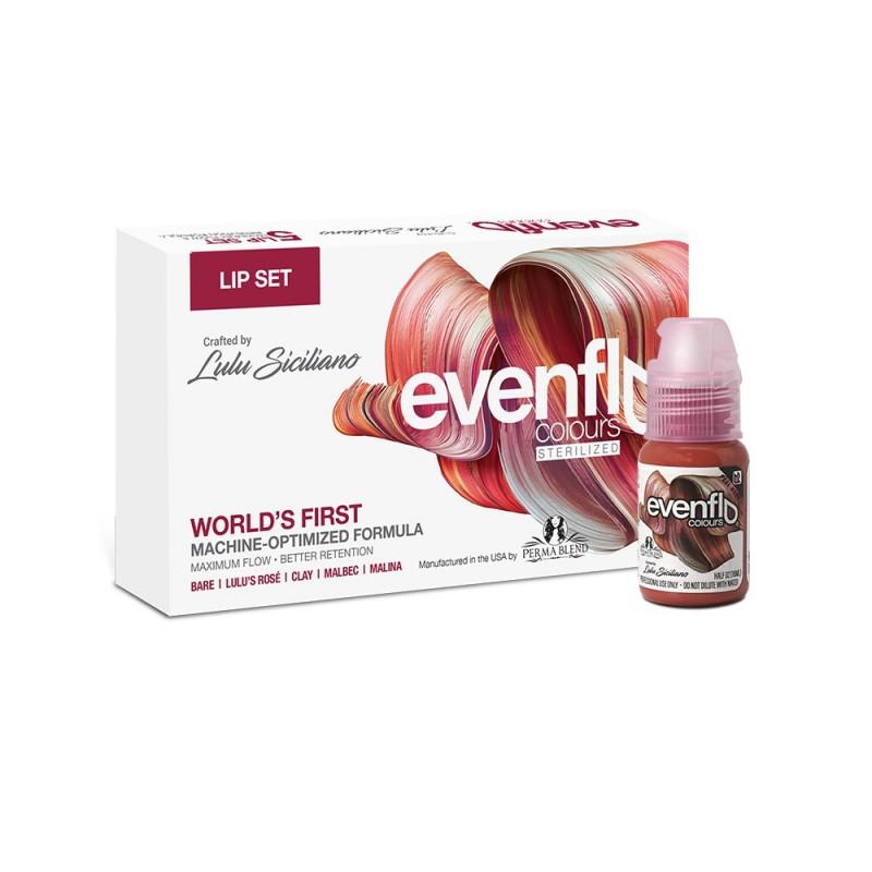 Perma Blend Evenflo lip pigments set 15 ml. (5 vnt.)