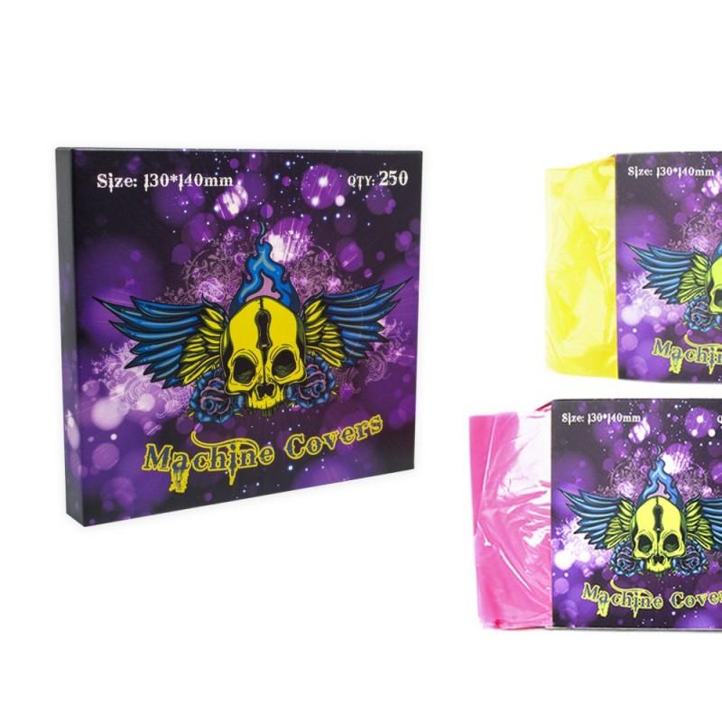 Tattoo Machines bags ( Transparent Pink / Yellow/ Blue) 250pcs.