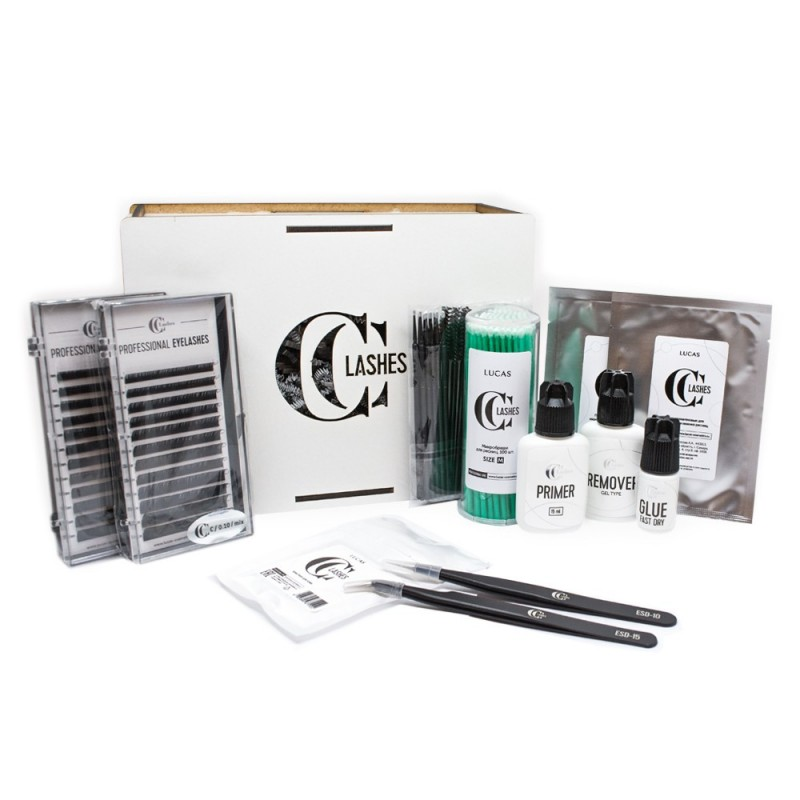 CC Lashes Профессиональный набор для наращивания ресниц