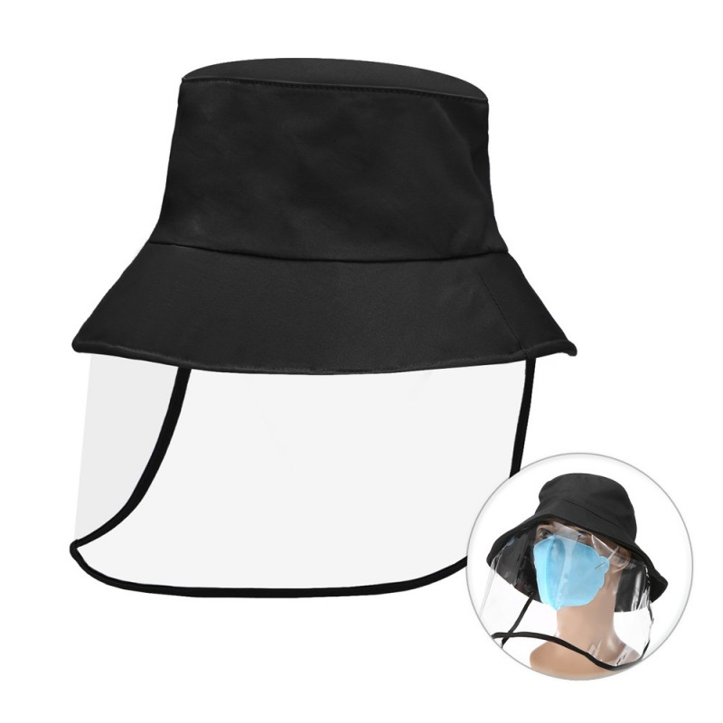 Protective shield with hat (transparent) 1 pcs.