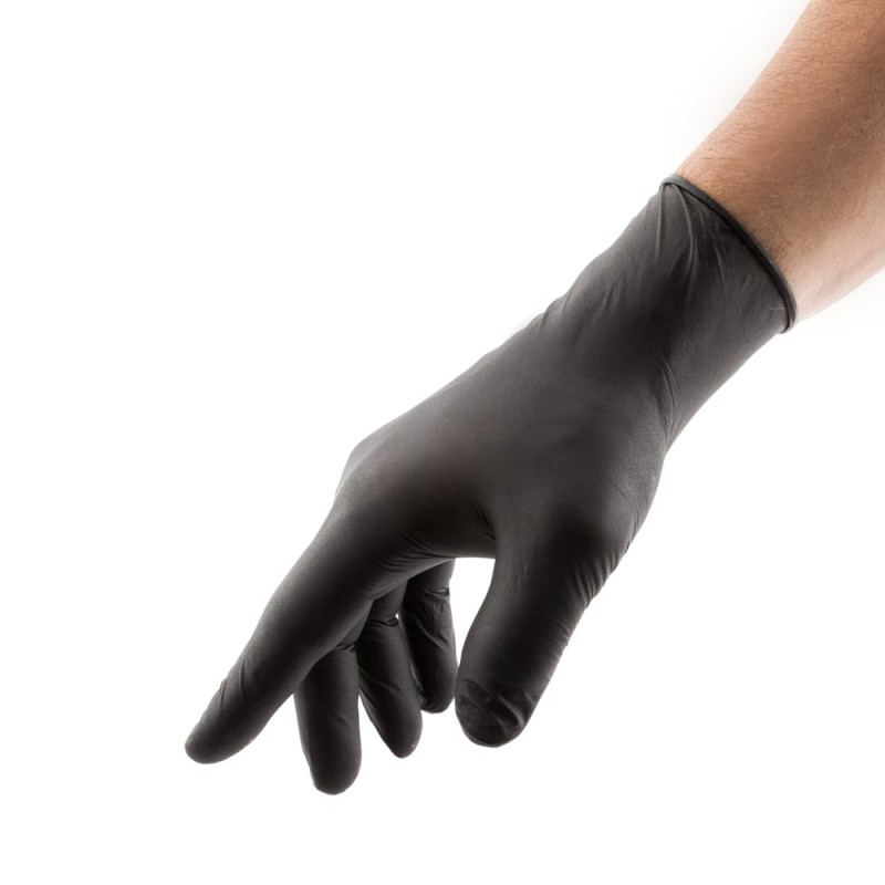 SELECT BLACK Latex Gloves 25 PAIRS (M)