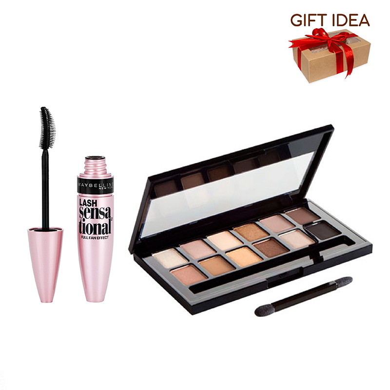 Maybelline The Nudes Eyeshadow Palette + Maybelline Lash Sensational Mascara