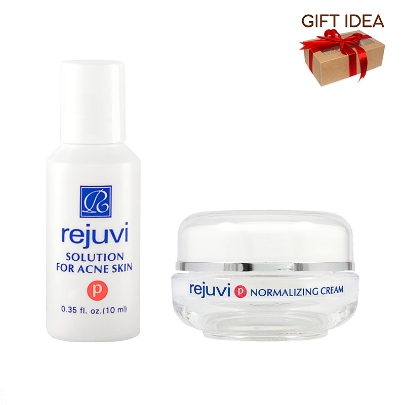 Rejuvi 'P' Solution For Acne Skin + Rejuvi 'P' Normalizing Cream Open Acne