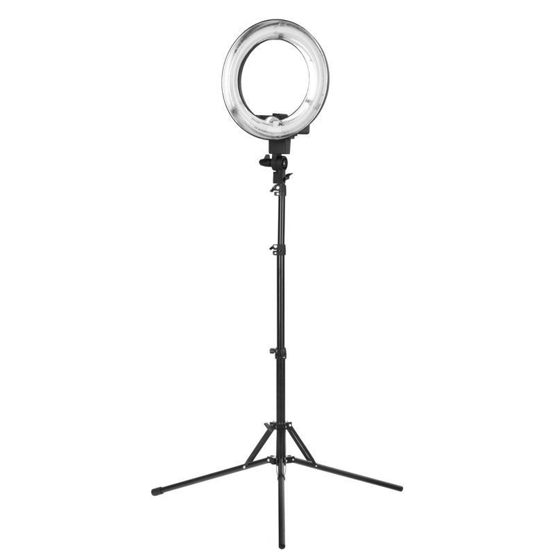 """Fluorescent Ring Light 12"""" 35W With Tripod"""