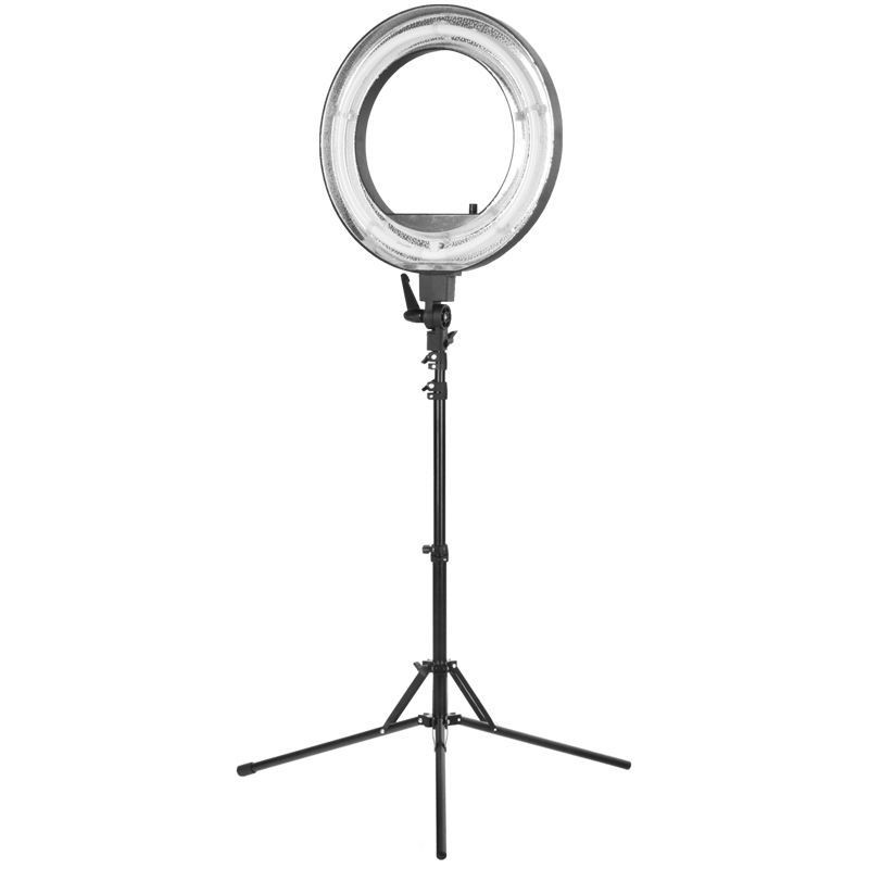 """Fluorescent Ring Light 18"""" 55W With Tripod"""