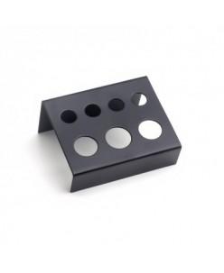 Pigmentų indelių laikiklis Black 7 skylių (metalinis)