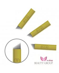 Microblading B&G 14-galė adata (auksinė)