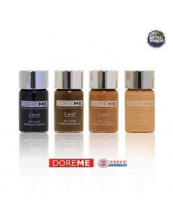 DOREME Permanentinio makiažo pigmentas (2SHOT COLORS - Microblading)