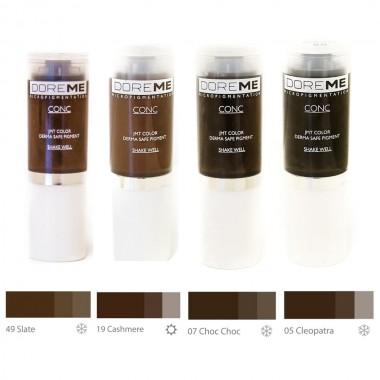 DOREME Permanentinio makiažo pigmentas (Conc colors - Microblading)