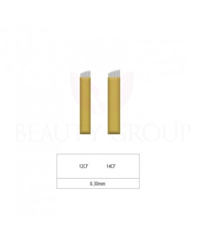 Biomaser Microblading 12 - 14 CF adata - 0,30mm (1 vnt.)