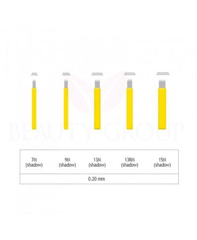 Biomaser Microblading 7-9-13-15 M ir13 RM šešėliavimo adata- 0,20mm ( 1 pcs.)