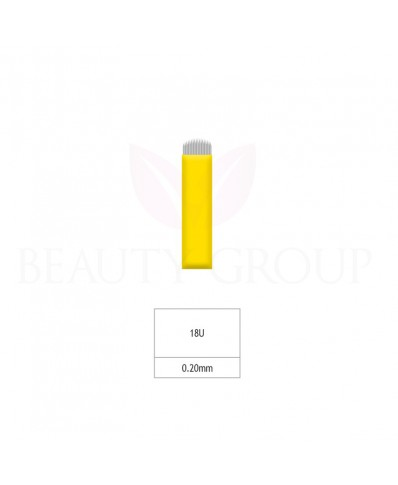 Biomaser Microblading 18 U adata (Aštri- 0,20mm) 1 vnt.