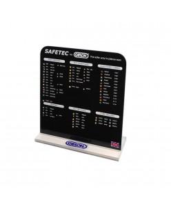 Caflon Safetec auskarų ekspozicinė lentelė