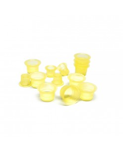 Skaidrūs geltoni pigmento indeliai (S-M) 100pcs.