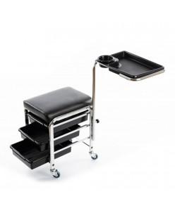Profesionalus vežimėlis su lentynomis