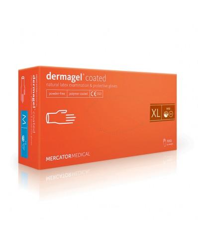 """Apsauginės lateksinės pirštinės """"Dermagel coated"""" (S - L)"""