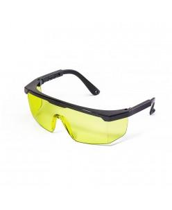 Klasikiniai apsauginiai akiniai, skaidriai geltoni, 1 vnt.