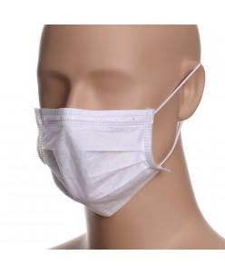 Vienkartinės veido kaukės - 3 sluoksniai (10vnt.) baltos