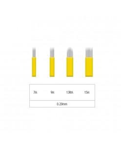 Microblading 7-9-15М/ 13RM šešėliavimo adata- 0,20mm (1 pcs.)
