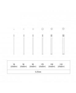 Microblading 3-5-9-17-19-21 R šešėliavimo adata- 0,25mm (1 pcs.)