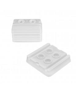 Pigmentų indeliai (2 - 4 duobučių) Balti- 50 vnt.