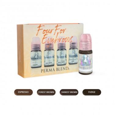 Perma Blend keturių antakių pigmentų rinkinys 4 x 15ml.