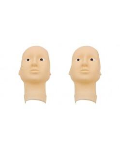 3D guminė galvos kaukė su atviromis akimis