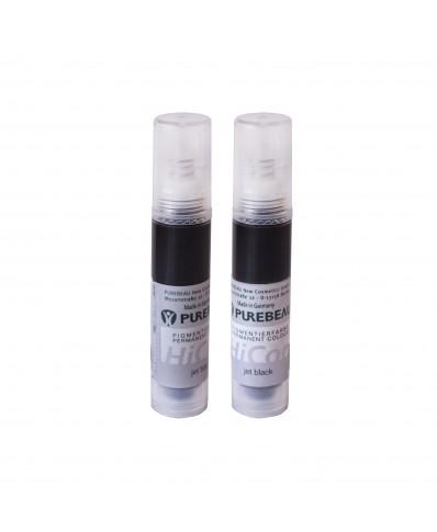 Purebeau beorės pakuotės pigmentas akims 10ml (Jet black)
