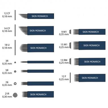 Skin Monarch Microblading adatos 12-14CF / 18U / 3-5-7-2R / 9-15M1 / 13RM / 12F (30 vnt.)