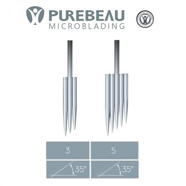 Purebeau microblading 3 ir 5-galės adatos (aparatui) 1 vnt.