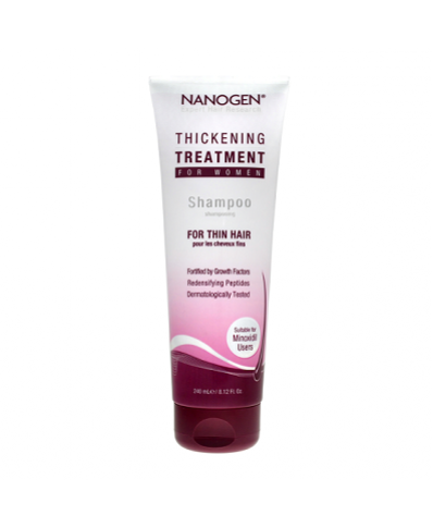 Nanogen slenkančių plaukų šampūnas moterims (240 ml.)