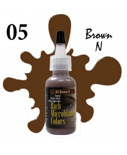 Rich Microblade Colors Pigmentas Brown N (15ml.)