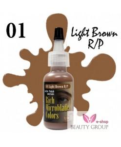 Rich Microblade Colors Pigmentas Light Brown R/P (15ml.)