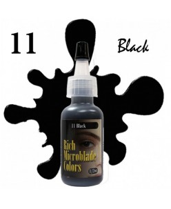 Rich Microblade Colors Pigmentas Black (15ml.)