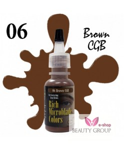 Rich Microblade Colors Pigmentas Brown CGB (15ml.)