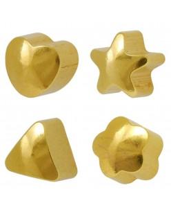 Caflon® sterilūs paauskuoti įvairių formų auskarai