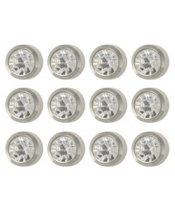 Caflon® titaniniai auskarai (April Birthstone)