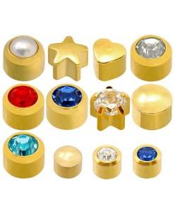 Caflon® sterilių paauksuotų auskarų komplektas (12 porų)